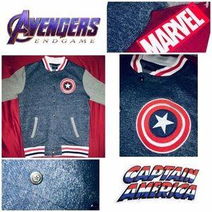 Avengers Long Sleeve Varsity Sports Jacket Small